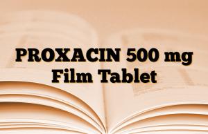 PROXACIN 500 mg Film Tablet