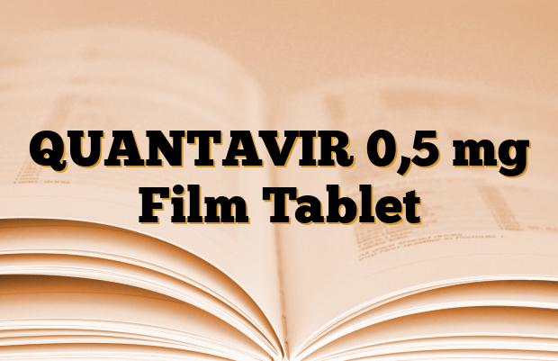QUANTAVIR 0,5 mg Film Tablet