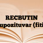 RECBUTIN Supozituvar (fitil)