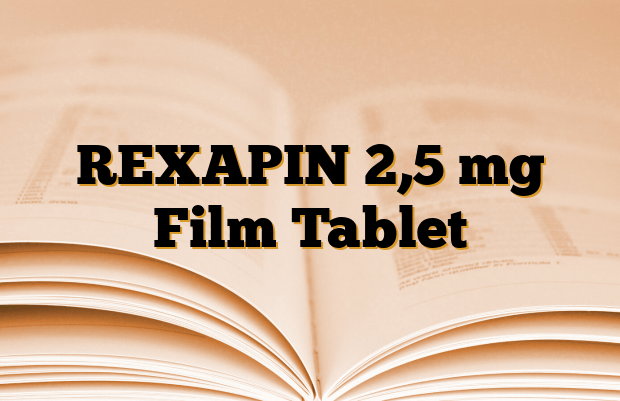 REXAPIN 2,5 mg Film Tablet