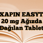 REXAPIN EASYTAB 20 mg Ağızda Dağılan Tablet