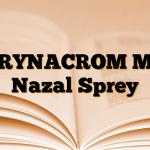 RYNACROM M Nazal Sprey