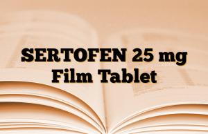 SERTOFEN 25 mg Film Tablet
