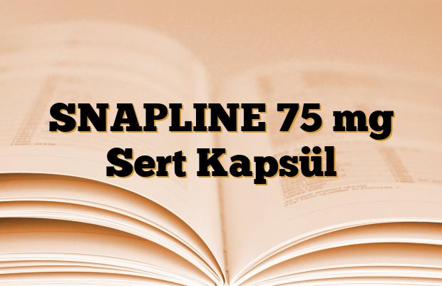 SNAPLINE 75 mg Sert Kapsül