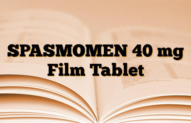 SPASMOMEN 40 mg Film Tablet
