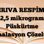 SPIRIVA RESPİMAT 2,5 mikrogram Püskürtme İnhalasyon Çözeltisi