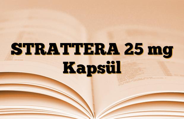 STRATTERA 25 mg Kapsül