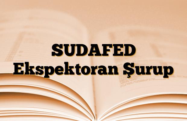 SUDAFED Ekspektoran Şurup