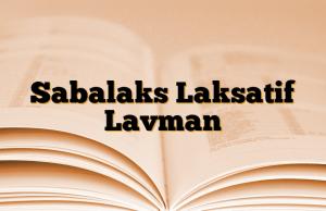 Sabalaks Laksatif Lavman