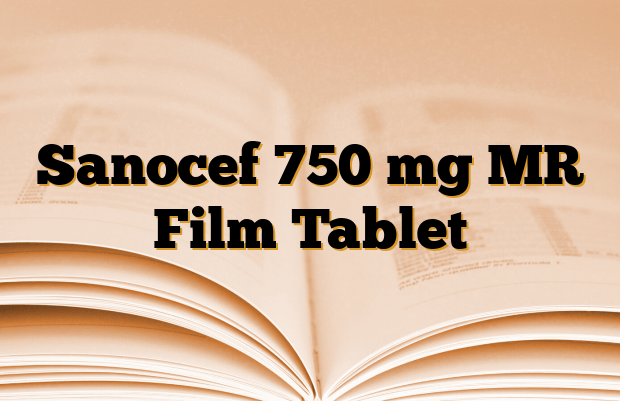Sanocef 750 mg MR Film Tablet