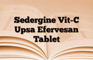 Sedergine Vit-C Upsa Efervesan Tablet