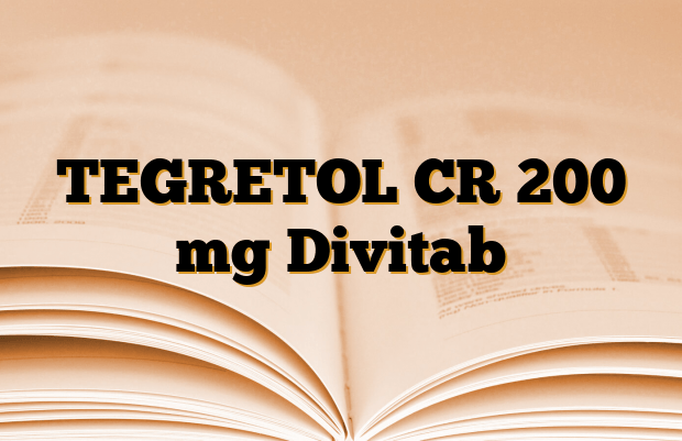 TEGRETOL CR 200 mg Divitab