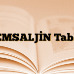 TEMSALJİN Tablet