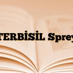 TERBİSİL Sprey