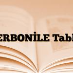 TERBONİLE Tablet