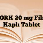 TORK 20 mg Film Kaplı Tablet