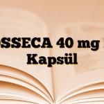 TOSSECA 40 mg DR Kapsül