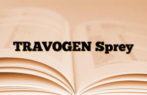TRAVOGEN Sprey