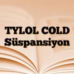 TYLOL COLD Süspansiyon