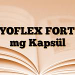 TYOFLEX FORT 8 mg Kapsül