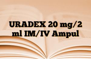 URADEX 20 mg/2 ml IM/IV Ampul