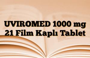 UVIROMED 1000 mg 21 Film Kaplı Tablet