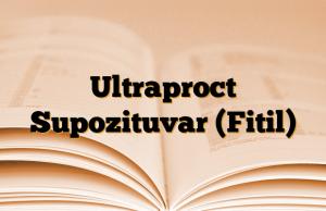 Ultraproct Supozituvar (Fitil)