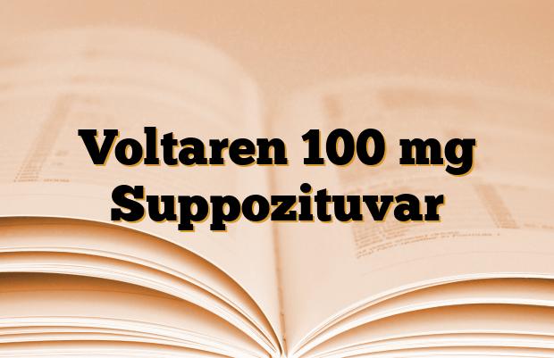 Voltaren 100 mg Suppozituvar