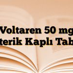 Voltaren 50 mg Enterik Kaplı Tablet