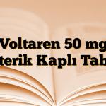 Voltaren 50 mg Enterik Kaplı Tablet