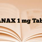 XANAX 1 mg Tablet