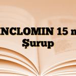 ZINCLOMIN 15 mg Şurup