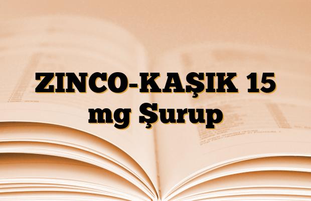 ZINCO-KAŞIK 15 mg Şurup