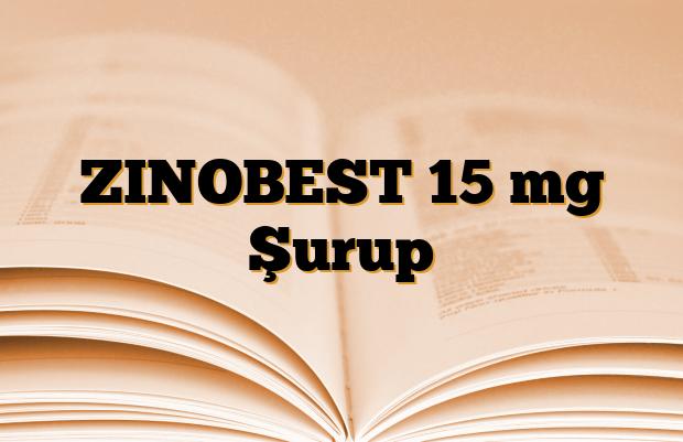 ZINOBEST 15 mg Şurup