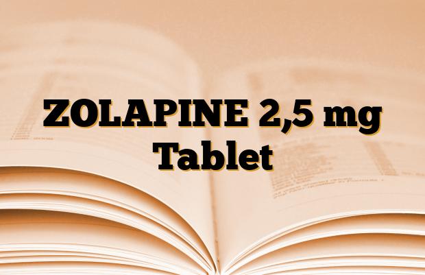 ZOLAPINE 2,5 mg Tablet