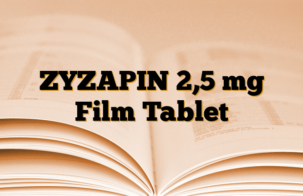 ZYZAPIN 2,5 mg Film Tablet