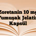 Zoretanin 10 mg Yumuşak Jelatin Kapsül