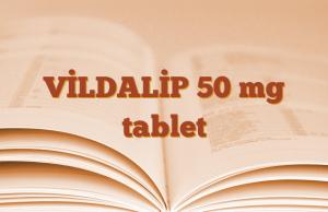 VİLDALİP 50 mg tablet