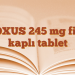 VOXUS 245 mg film kaplı tablet