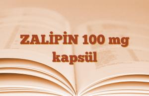 ZALİPİN 100 mg kapsül