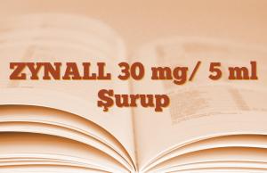 ZYNALL 30 mg/ 5 ml Şurup