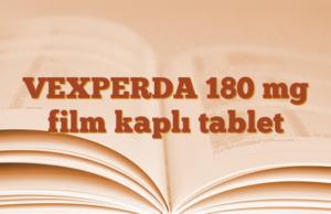 VEXPERDA 180 mg film kaplı tablet