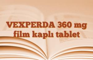 VEXPERDA 360 mg film kaplı tablet