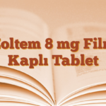 Zoltem 8 mg Film Kaplı Tablet