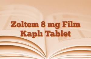 Zoltem 8 mg Film Kaplı Tablet