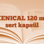 XENICAL 120 mg sert kapsül