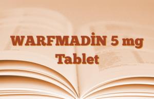 WARFMADİN 5 mg Tablet