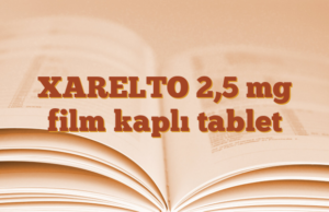 XARELTO 2,5 mg film kaplı tablet