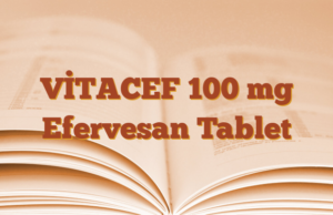 VİTACEF 100 mg Efervesan Tablet