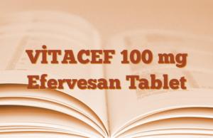 VİTACEF 100 mg Efervesan Tablet